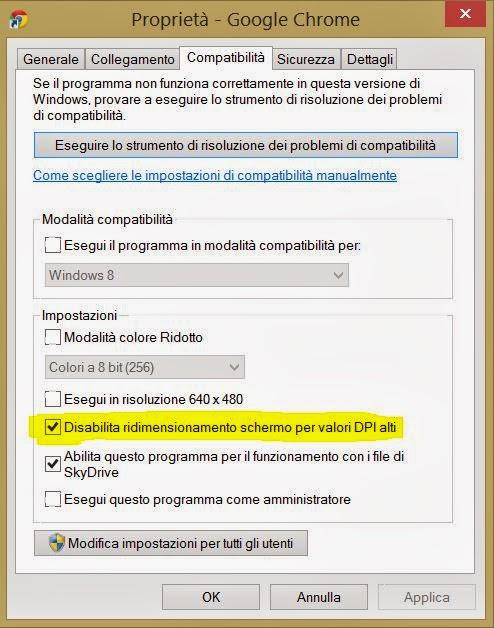 Problema Chrome risolto