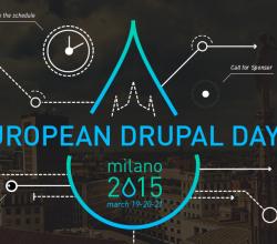 Logo ufficiale degli European Drupal days 2015