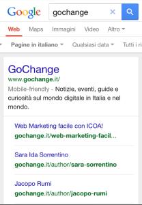 La mobile friendly label indica che il blog Gochange è ottimizzato per i dispositivi mobili.