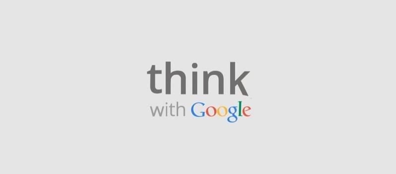 Logo di Think with Google Italia. fatti ispirare!