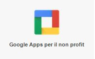 Logo Google Apps per il No profit