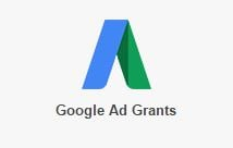 Logo di Google Ad Grants. La versione No profit di Adwords