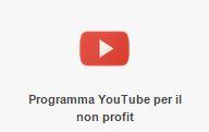 Logo di Youtube per il programma Google per il no profit