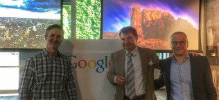 Jacopo Rumi negli uffici Google di Milano per il meeting google cloud platform partner