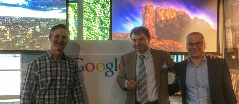 Jacopo Rumi negli uffici Google di Milano per il meeting google cloud platform partner
