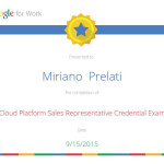 Attestato Google Cloud Platform Salkes Representative Credential