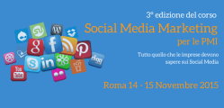 Corso Social Media Marketing per le PMI Roma formula weekend