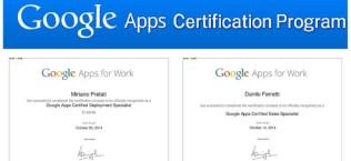 Due certificati ICOA per le Google Apps For Work