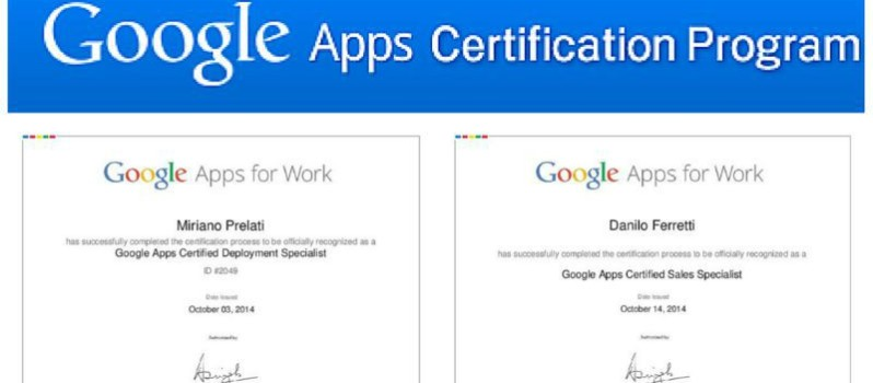 Due certificati ICOA per le Google Apps For Work