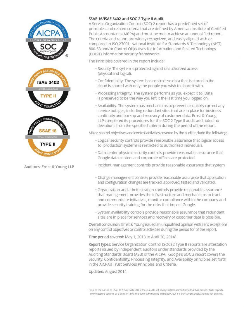 Certificazioni sicurezza Google Cloud