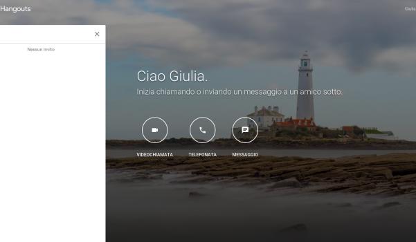 Screenshot nuova grafica Google Hangouts