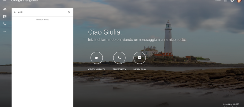 Screenshot nuova grafica Google Hangouts