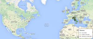 Mappa interativa distribuzione Clienti ICOA