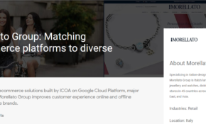 Google Cloud Platform: Morellato e-commerce by ICOA