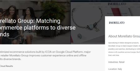 Google Cloud Platform: Morellato e-commerce by ICOA